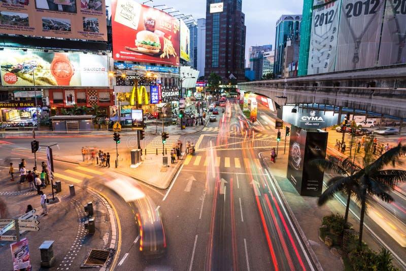 Спешка Куалаа-Лумпур стоковые изображения