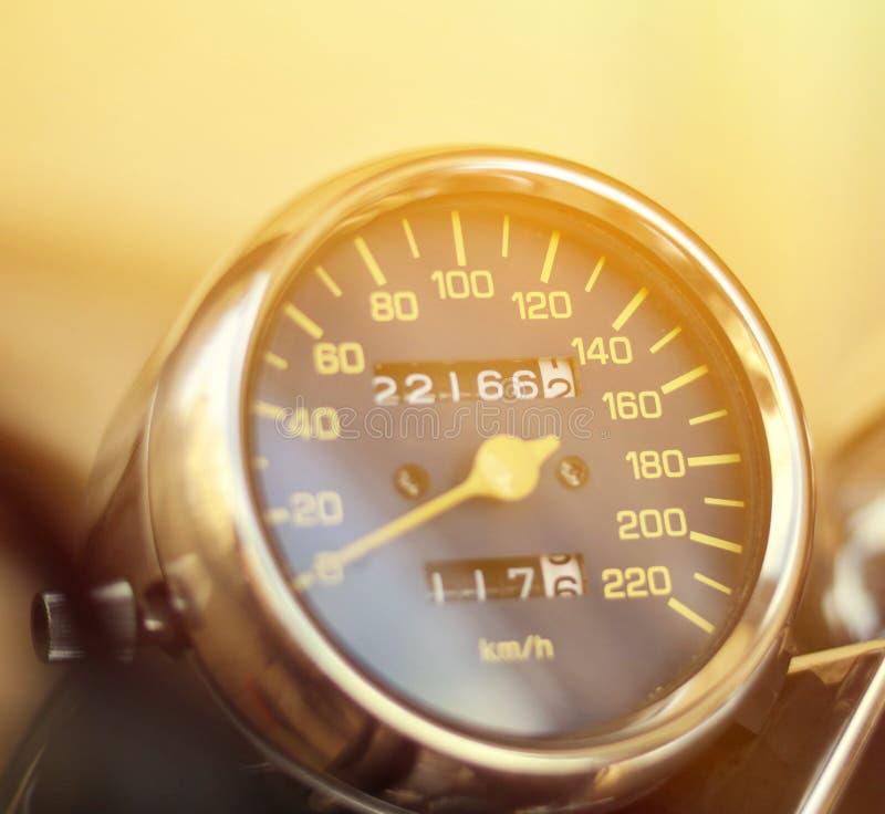 Спидометр мотоцикла стоковые изображения