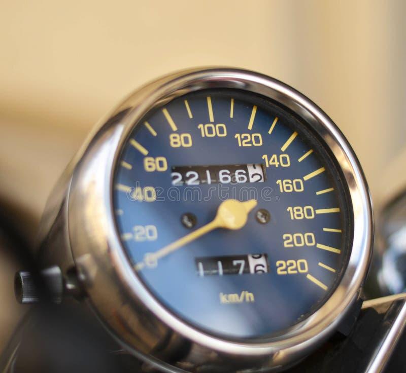 Спидометр мотоцикла стоковая фотография rf
