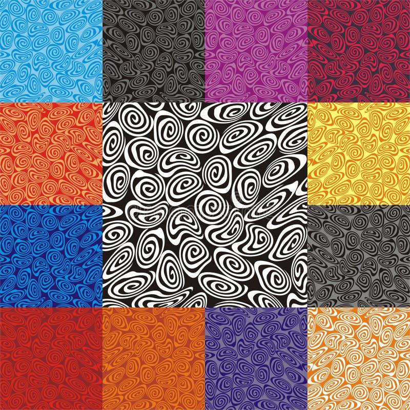 спирали предпосылки ретро иллюстрация вектора