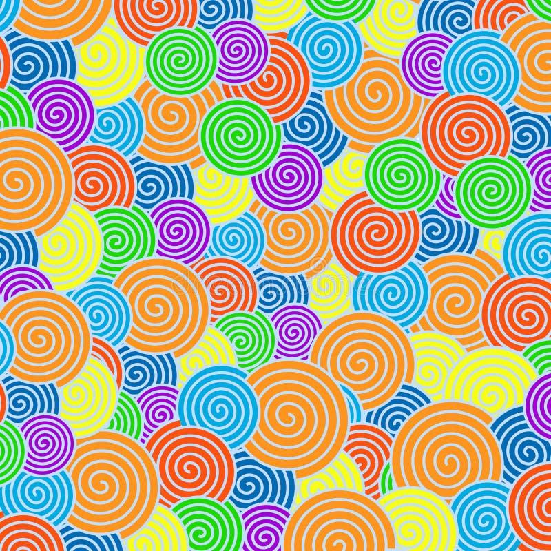 Спиральная картина с цветами радуги для абстрактной предпосылки иллюстрация вектора