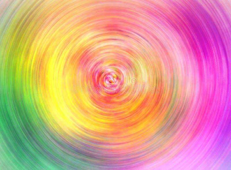 Спиральная предпосылка к красочному иллюстрация вектора