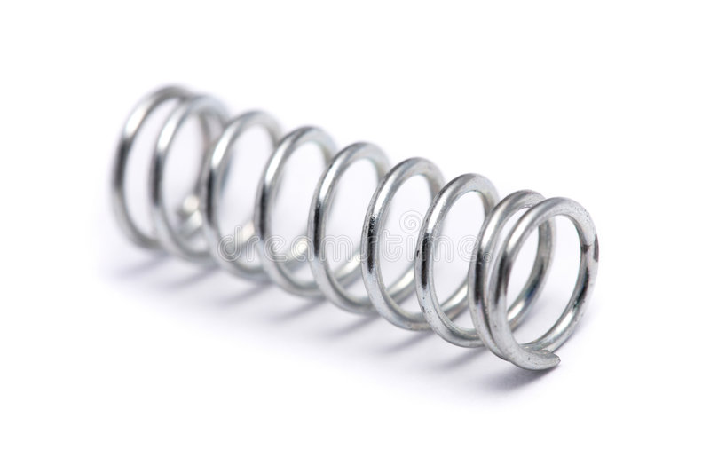 спиральная пружина стоковые изображения rf
