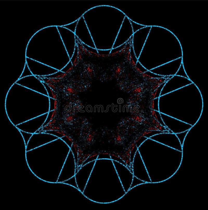 Спиральная фантазия на черной предпосылке иллюстрация штока