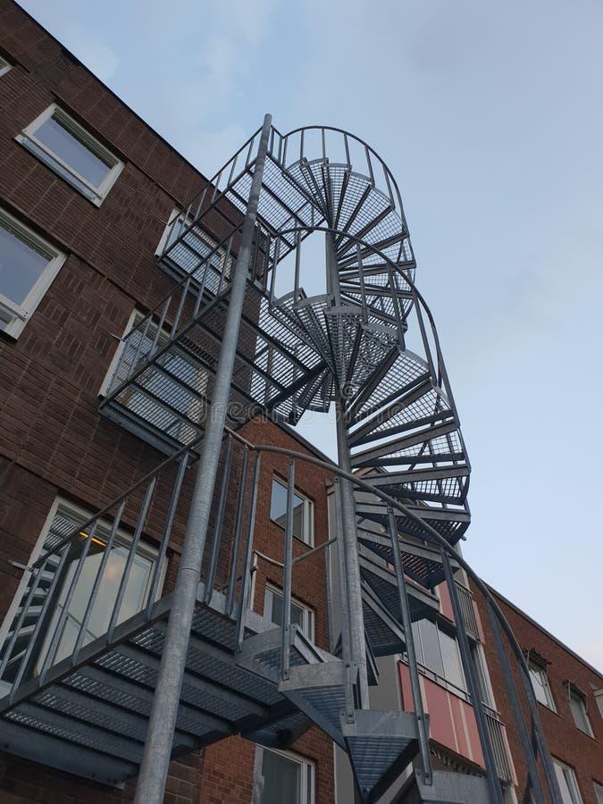 Спиральные лестницы вверх стоковое изображение rf
