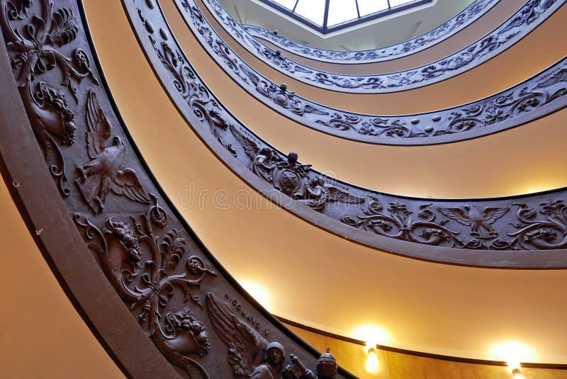 Спиральные лестницы музеев Ватикана стоковое фото