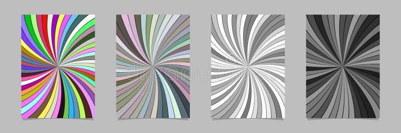 Спиральный набор шаблона предпосылки плаката - иллюстрации канцелярских принадлежностей вектора иллюстрация вектора