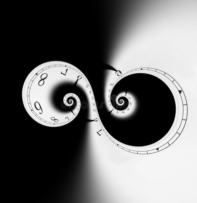 спиральн время иллюстрация штока