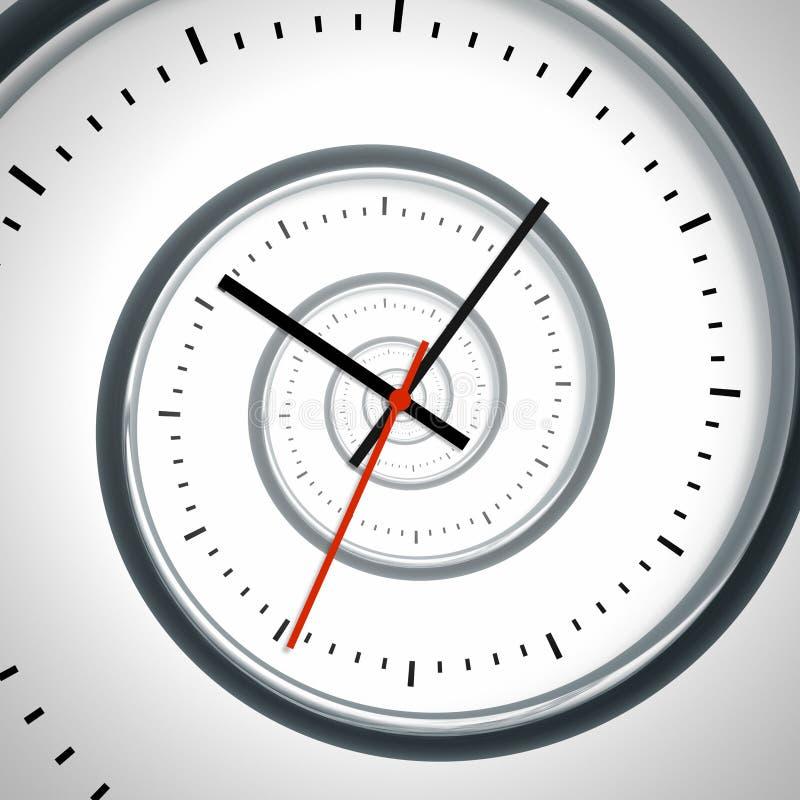спиральн время иллюстрация вектора