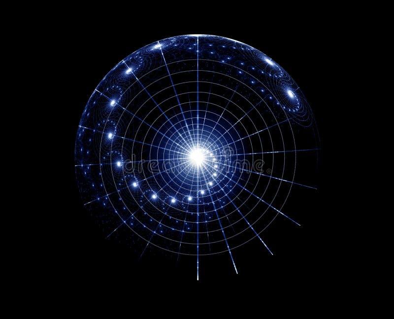 спиральн вселенный иллюстрация штока