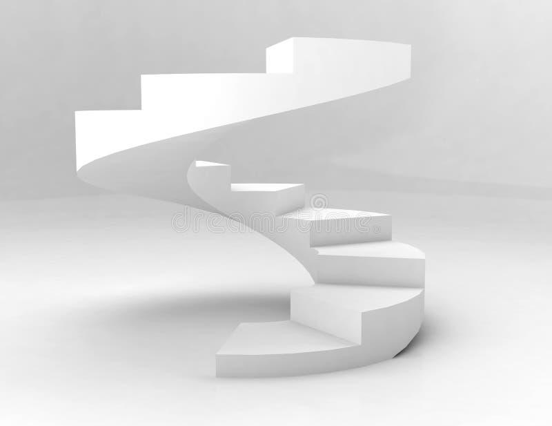 спиральн лестницы белые иллюстрация штока
