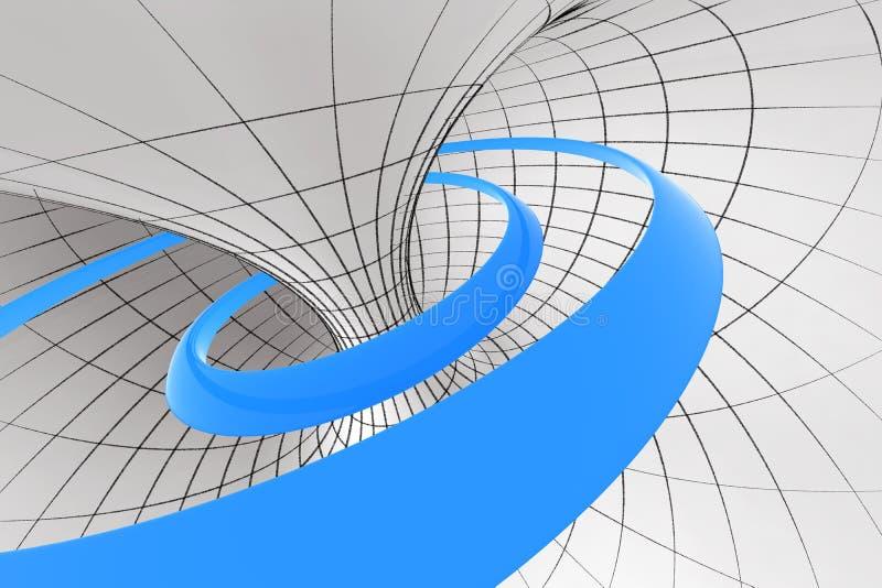 спиральн торус иллюстрация вектора
