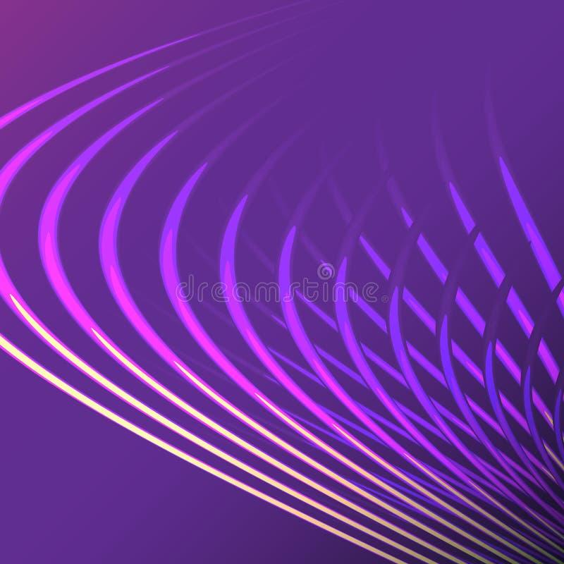 Спираль красивой пурпурной энергии конспекта пинка волшебной электрическая переплела космические решетки огня линий, нашивок, руч бесплатная иллюстрация