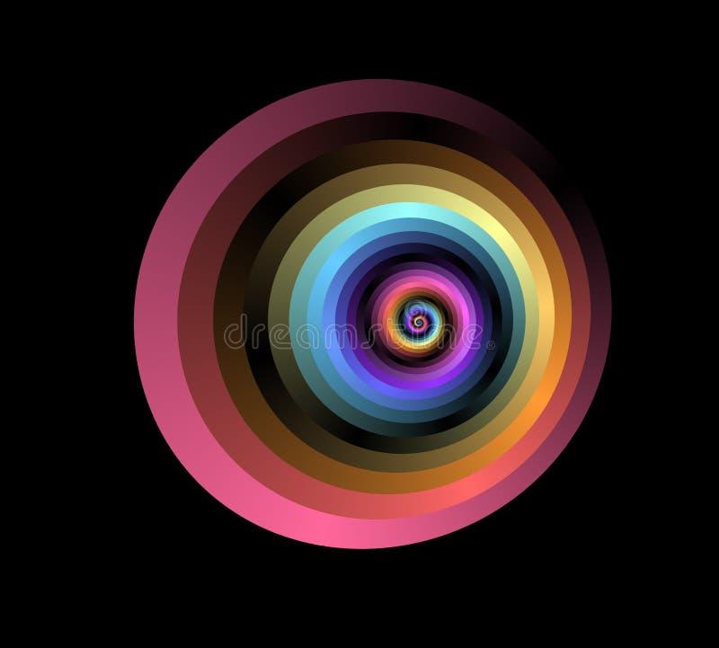 спираль красного цвета фрактали стоковая фотография rf