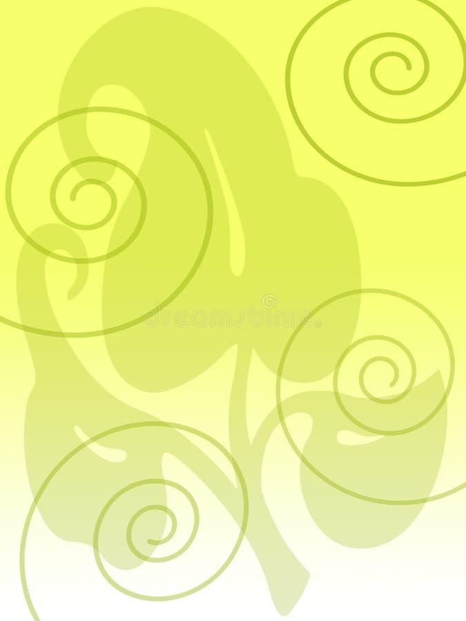 спираль листьев бесплатная иллюстрация