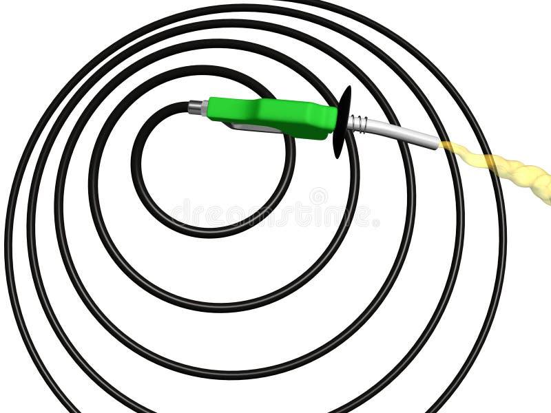 спираль насоса шланга для бензина бесплатная иллюстрация