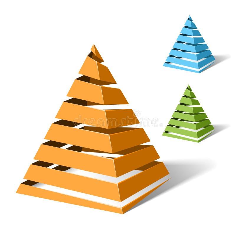 спираль пирамидок иллюстрация штока
