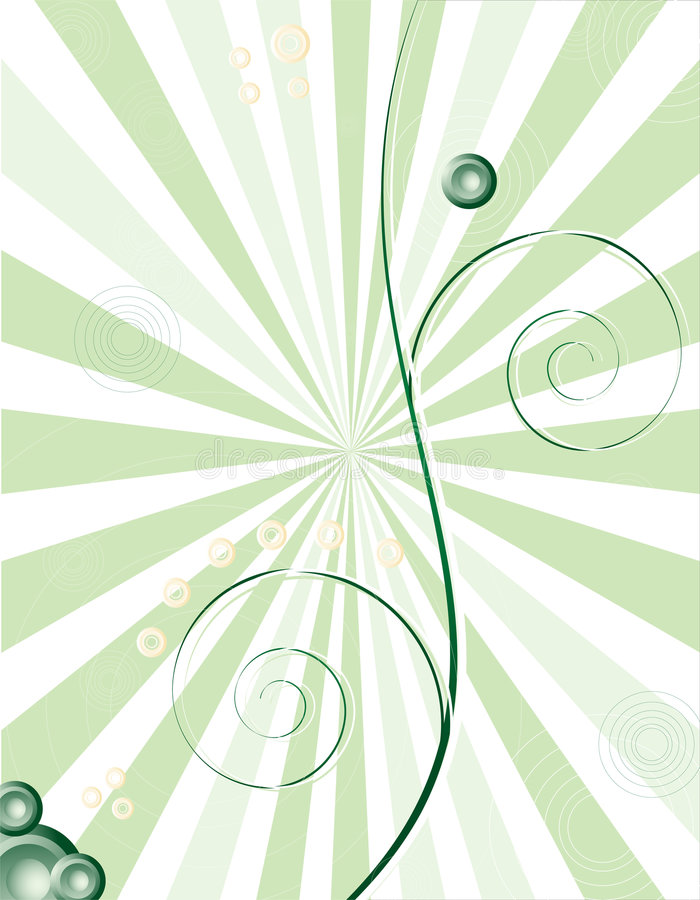 спираль предпосылки зеленая иллюстрация штока