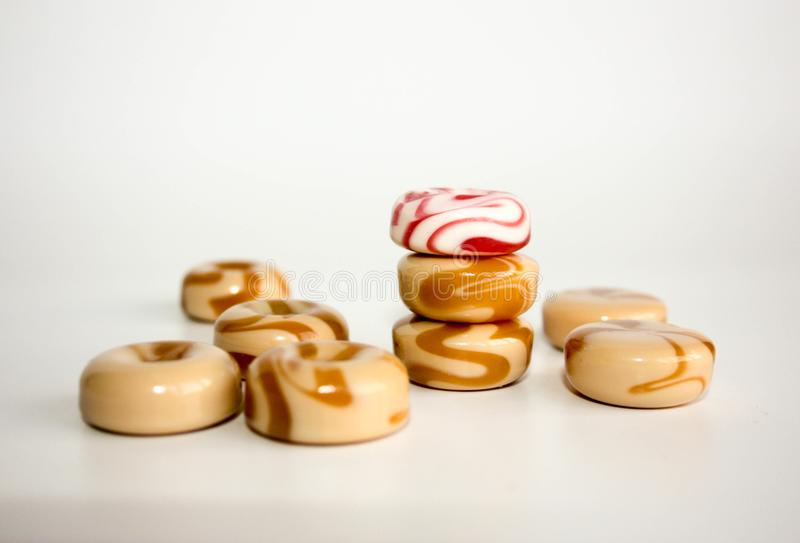 спираль сладостного молока карамельки конфеты стоковое изображение
