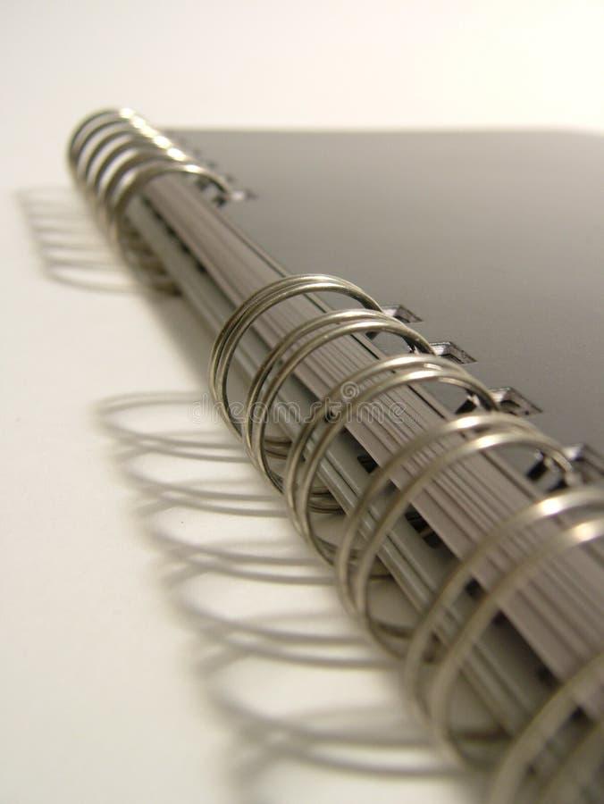 спираль тетради детали стоковая фотография rf