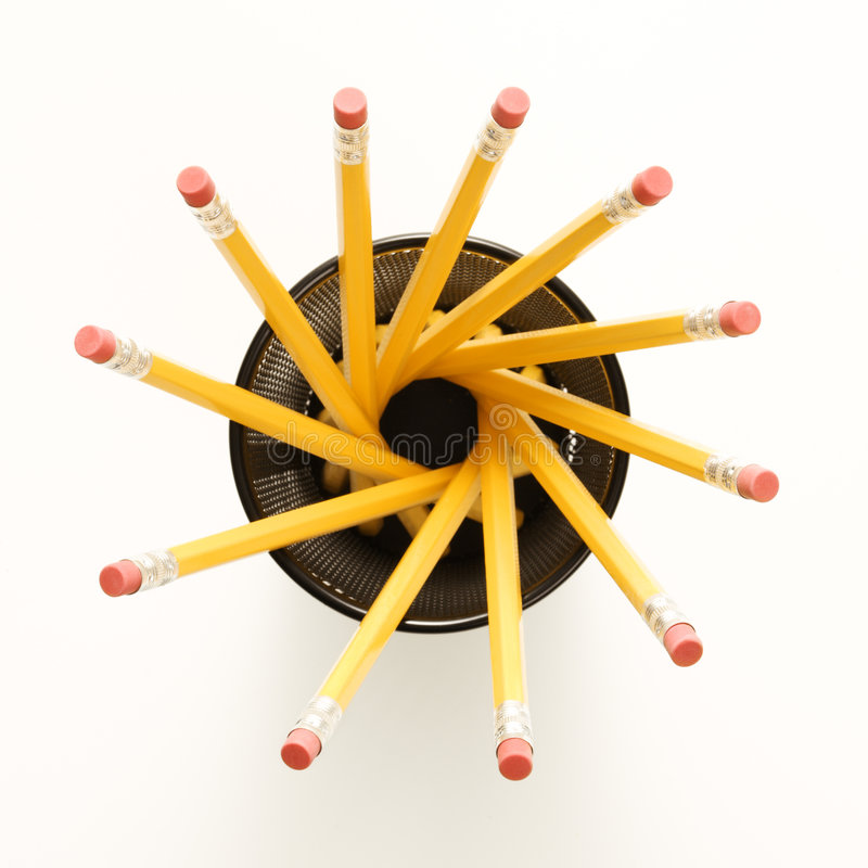 спираль формы карандашей стоковая фотография rf