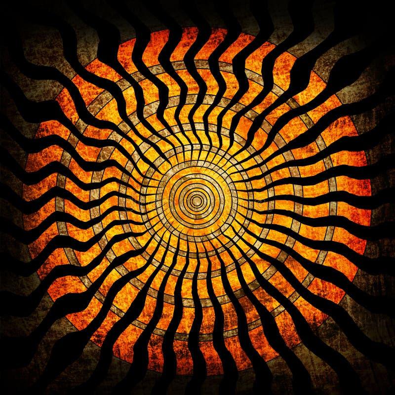 спираль grunge предпосылки иллюстрация вектора