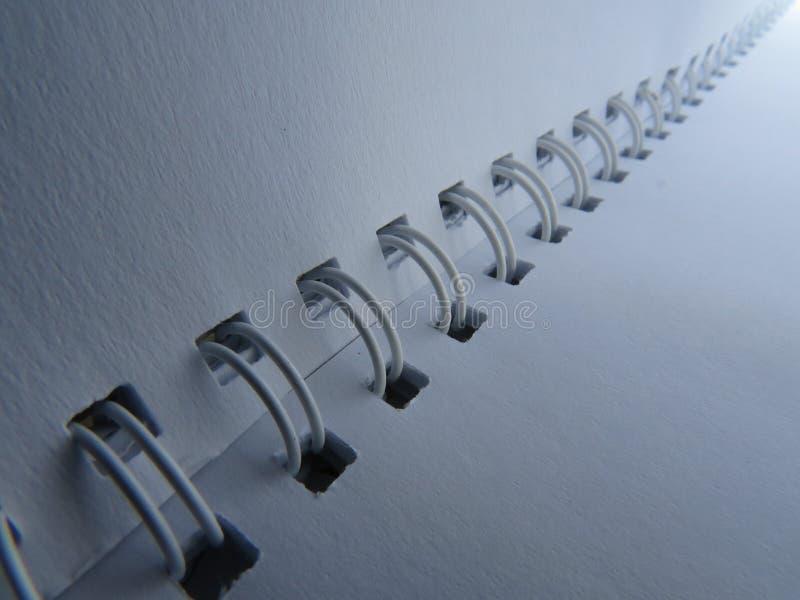 Спиральная бумажная тетрадь стоковая фотография