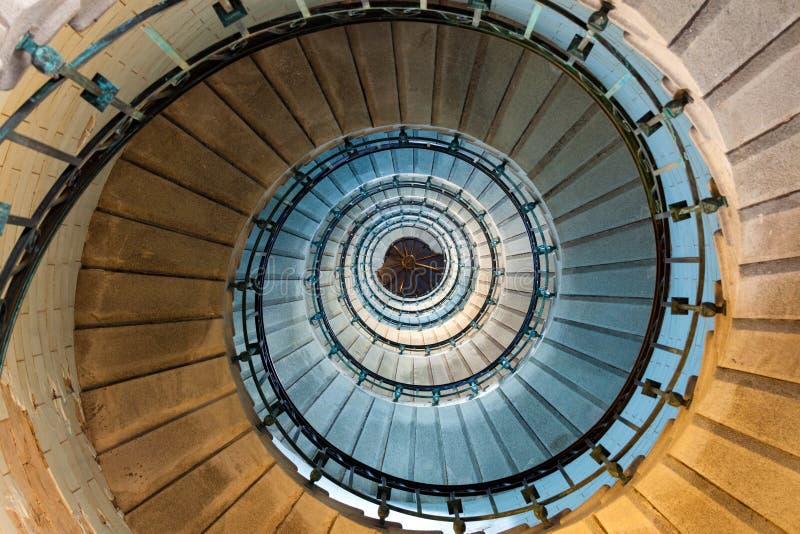 Спиральная лестница маяка стоковое фото rf