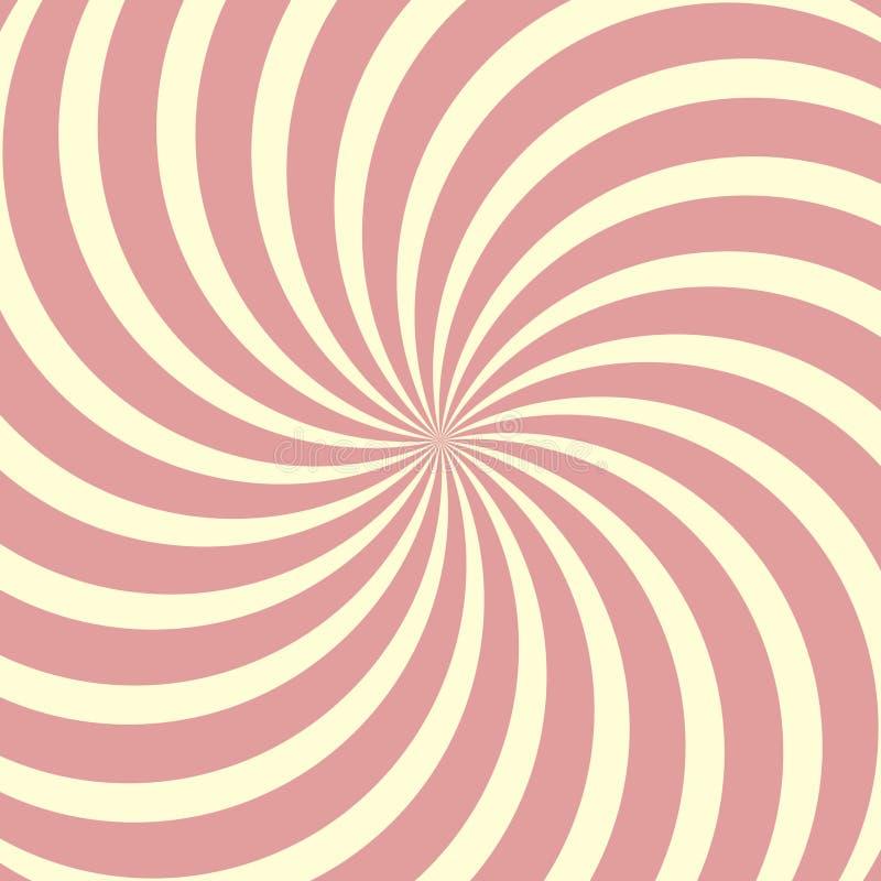 Спиральная круговая предпосылка, леденец на палочке переплела вектор лучей иллюстрация штока