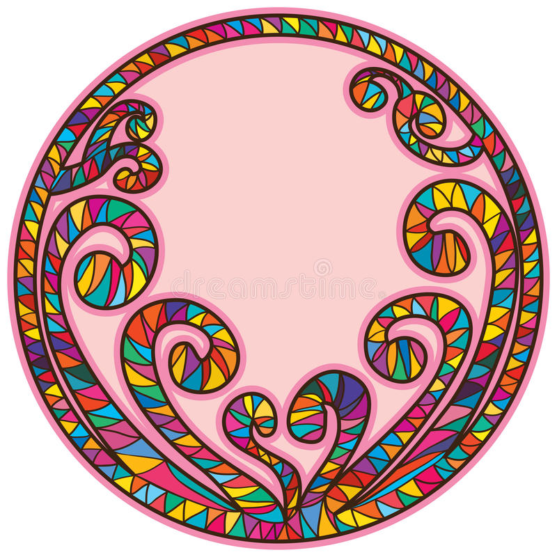 Спиральная форма круга рамки ручки бесплатная иллюстрация
