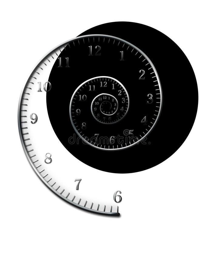 Спиральное время иллюстрация штока