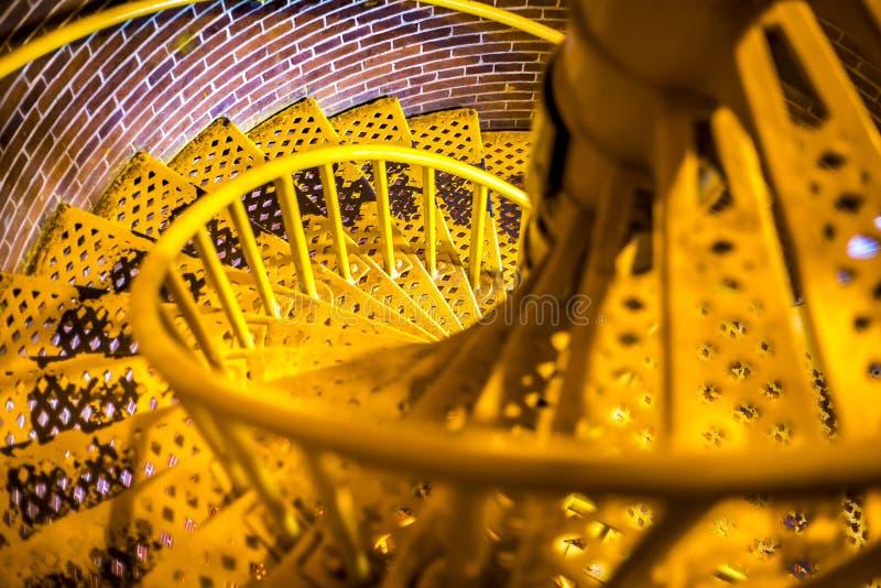 Спиральные лестницы маяка Barnegat смотря вниз стоковые изображения