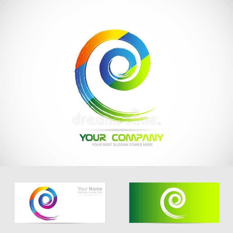 Спиральный логотип свирли иллюстрация штока