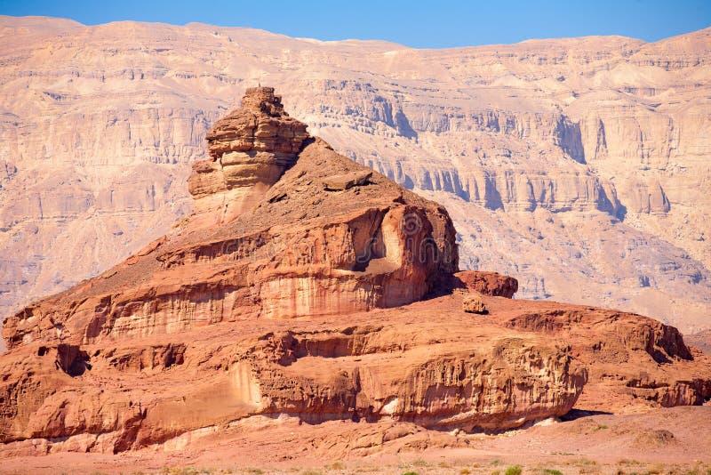 Спиральный холм в пустыня Негев стоковая фотография rf