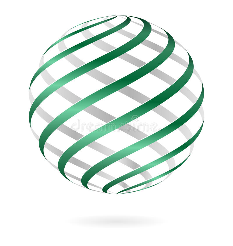 Спиральный шарик логотипа иллюстрация штока