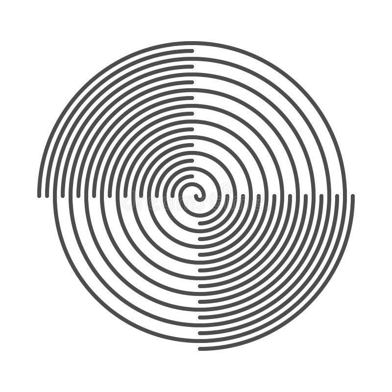 Спиральн абстрактная предпосылка Пазы винила также вектор иллюстрации притяжки corel иллюстрация вектора