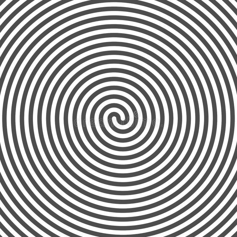 спираль гипнотика предпосылки Пазы винила иллюзион оптически иллюстрация вектора