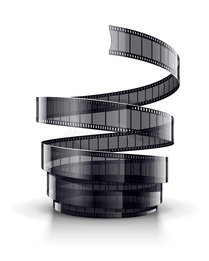 Спираль ленты фильма кинемотографии иллюстрация вектора