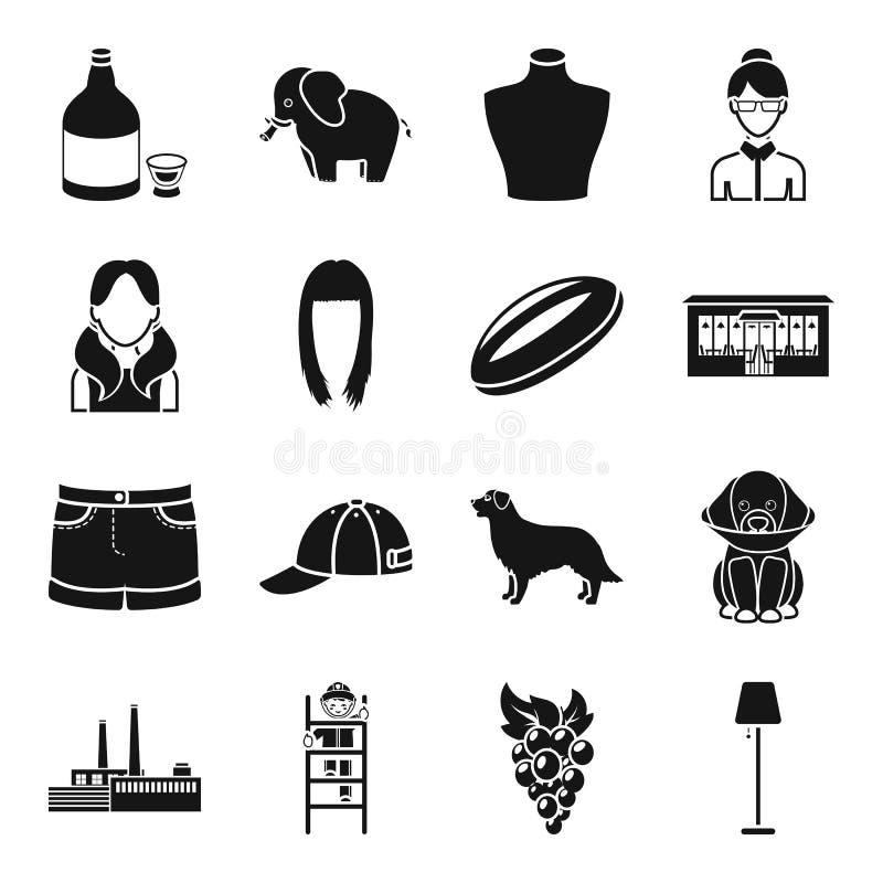 Спирт, животное, atelier и другой значок сети в черном стиле бесплатная иллюстрация