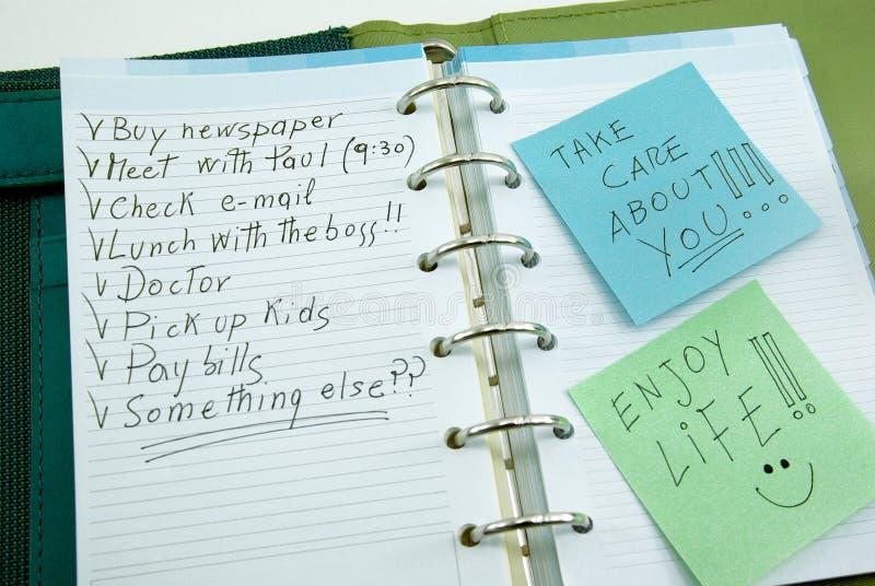 Список вещей, который нужно сделать с столбом его стоковое фото rf
