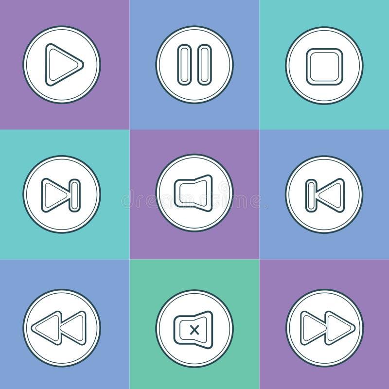 Список игры кнопки иллюстрация вектора