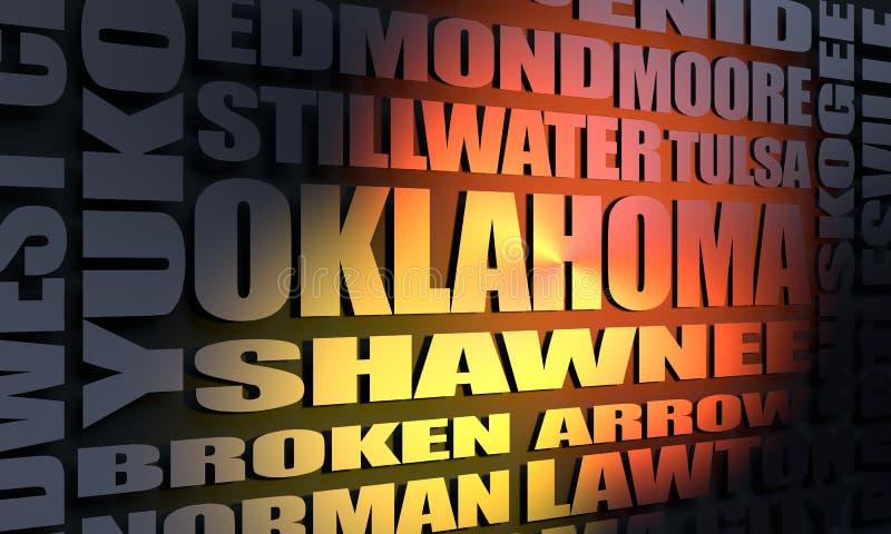 Список Оклахомаа-Сити стоковые фото