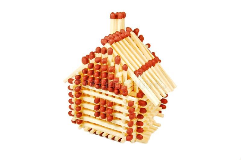 спичка дома стоковое изображение rf