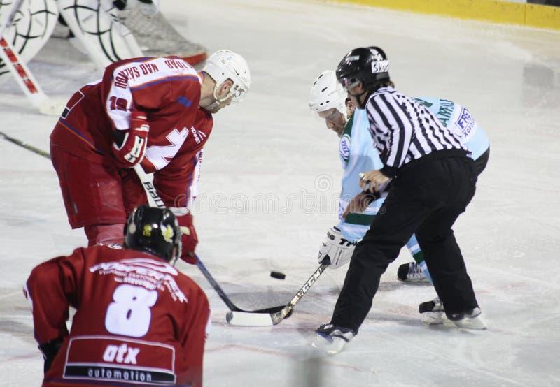 спичка льда хоккея стоковое фото rf
