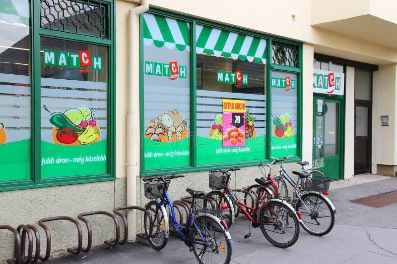 Спичка - магазин Delhaize стоковые фотографии rf