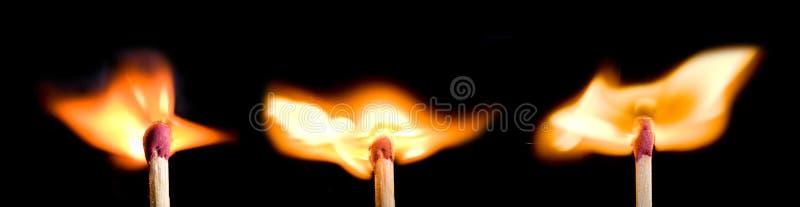 спичка ожога стоковое изображение