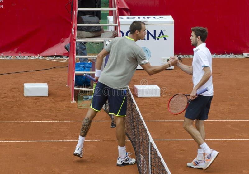 Спичка тенниса - Gilles Simon против Lukas Rosol стоковое изображение rf