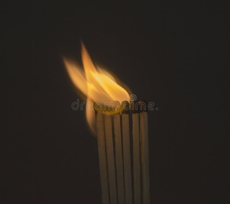 Спички огня стоковые изображения rf