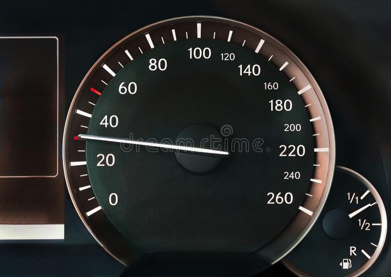 Спидометр автомобиля стоковая фотография rf