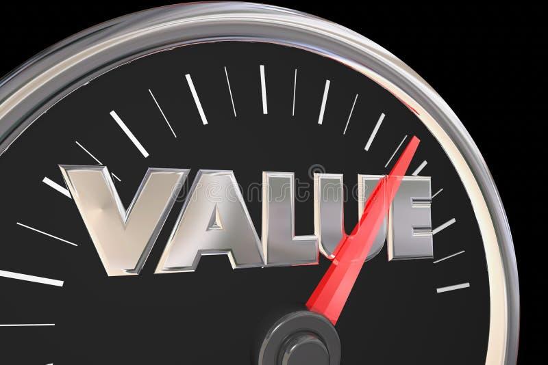 Спидометр слова дела качественного цены значения самый лучший бесплатная иллюстрация